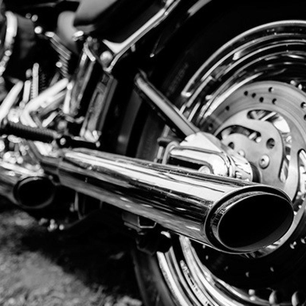 Motorrad verchromt